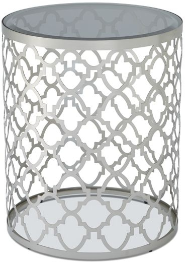 Serene Bianca Lamp Table - Glass and Chrome