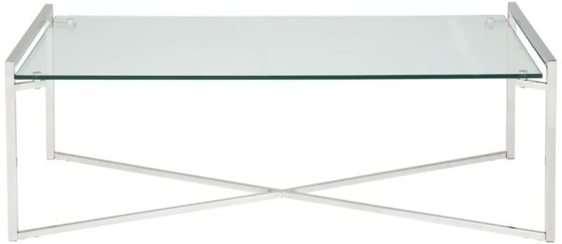 Serene Corin Rectangular Coffee Table - Glass and Chrome