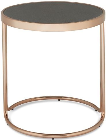 Serene Dawn Lamp Table - Glass and Rose Gold