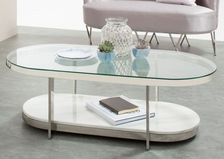 Serene Keira Coffee Table - Glass and Chrome