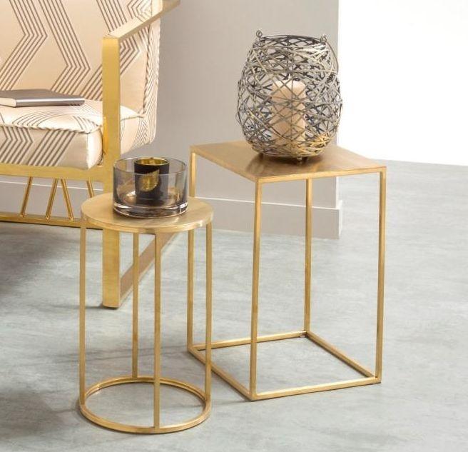 Serene Lola Nest of Table - Gold