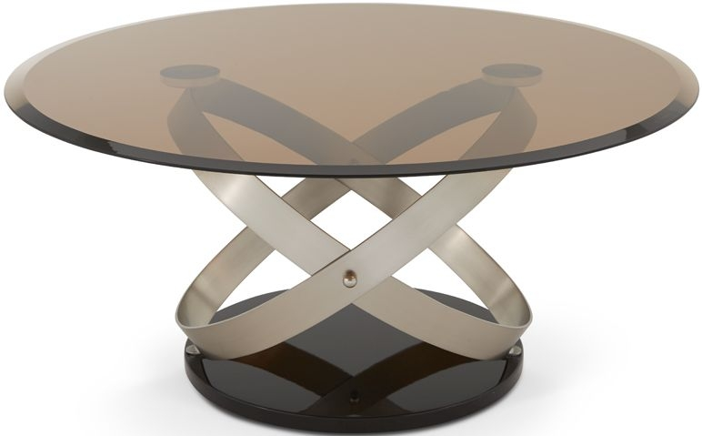 Serene Miranda Satin and Smoked Glass Coffee Table