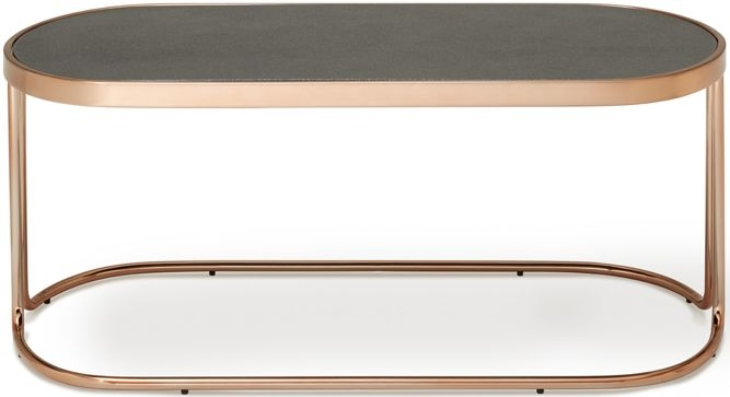 Serene Dawn Coffee Table - Glass and Rose Gold