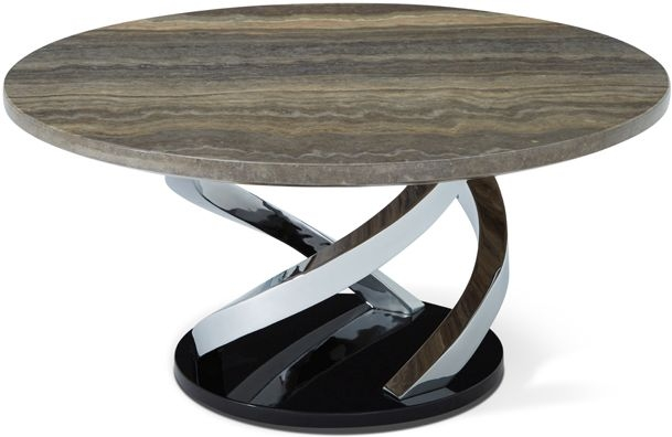 Serene Pandora Coffee Table - Marble and Chrome