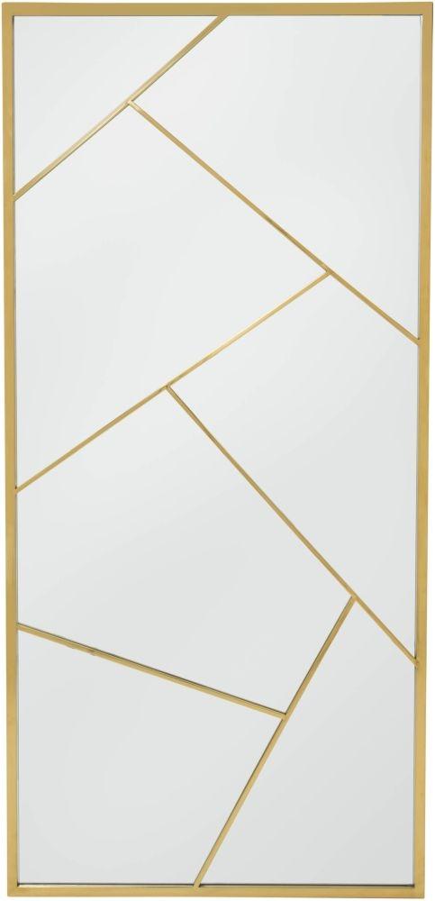Serene Phoenix Gold Rectangular Floor Mirror - 90cm x 190cm