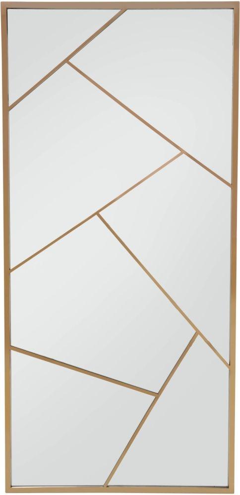 Serene Phoenix Rose Gold Rectangular Floor Mirror - 90cm x 190cm