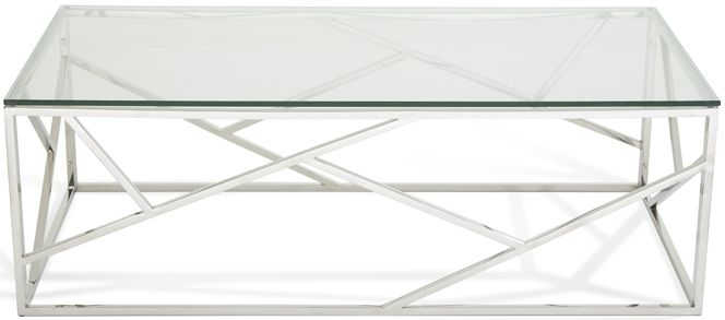 Serene Phoenix Coffee Table - Glass and Chrome
