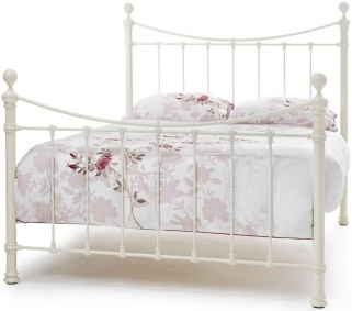 Serene Precious Ethan Ivory Gloss Metal Bed