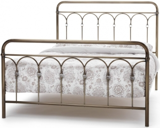 Serene Precious Shilton Antique Brass Metal Bed