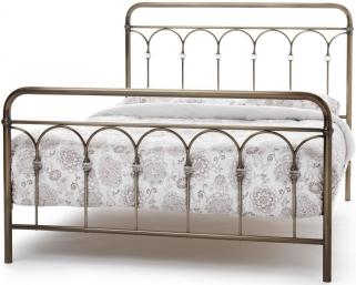 Serene Precious Shilton Antique Brass Metal Bed