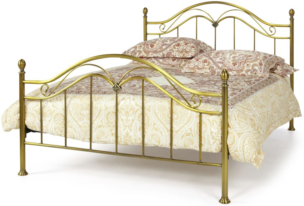 Serene Precious Madison Antique Brass Metal Bed - 4ft 6in Double