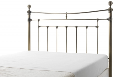 Serene Edmond Antique Brass Metal 5ft King Size Headboard