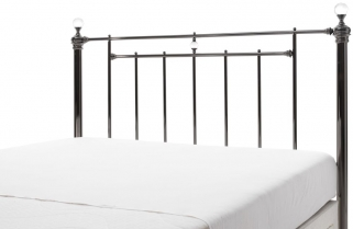 Serene Precious Clara Black Nickel Metal Headboard