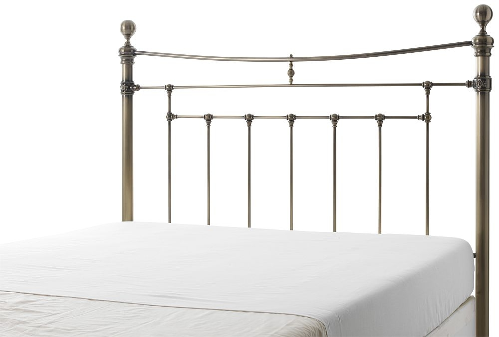Serene Edmond Antique Brass Metal Headboard