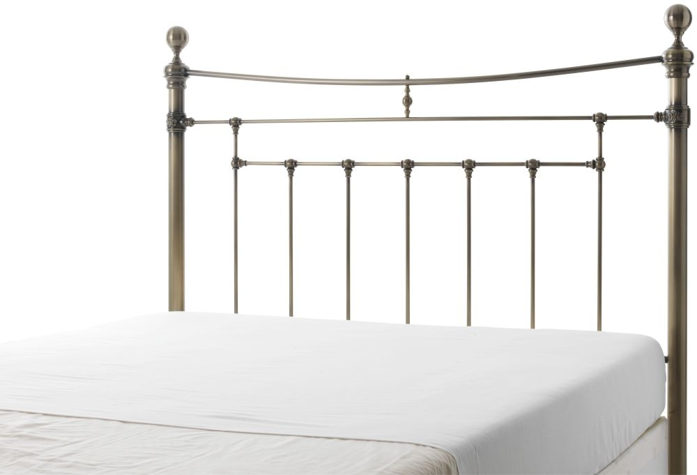 Serene Precious Edmond Antique Brass Metal Headboard