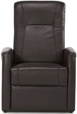 Serene Brevik Brown Faux Leather Recliner Chair