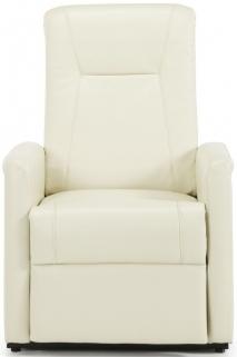 Serene Brevik Cream Faux Leather Recliner Chair
