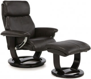 Serene Harstad Brown Bonded Leather Recliner Chair