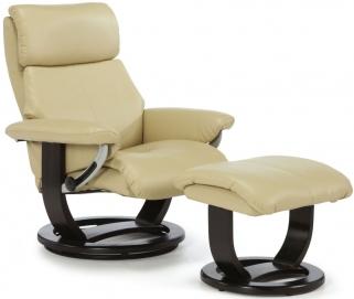 Serene Harstad Cream Bonded Leather Recliner Chair