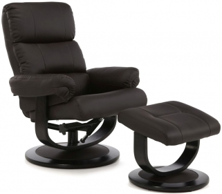 Serene Horten Brown Faux Leather Recliner Chair