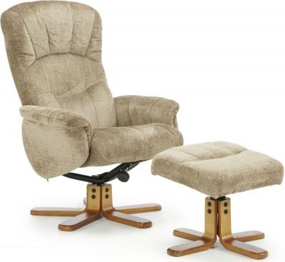 Serene Mandal Mink Fabric Recliner Chair