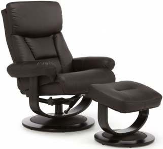 Serene Risor Brown Bonded Leather Recliner Chair