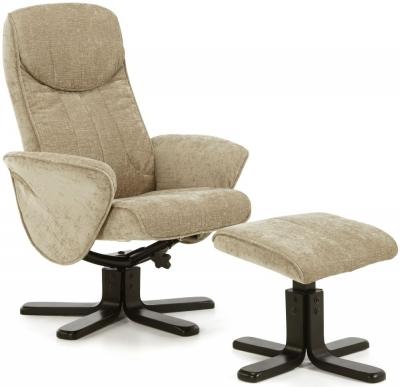 Serene Stavern Mink Fabric Recliner Chair