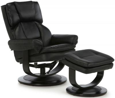 Serene Vardo Black Bonded Leather Recliner Chair