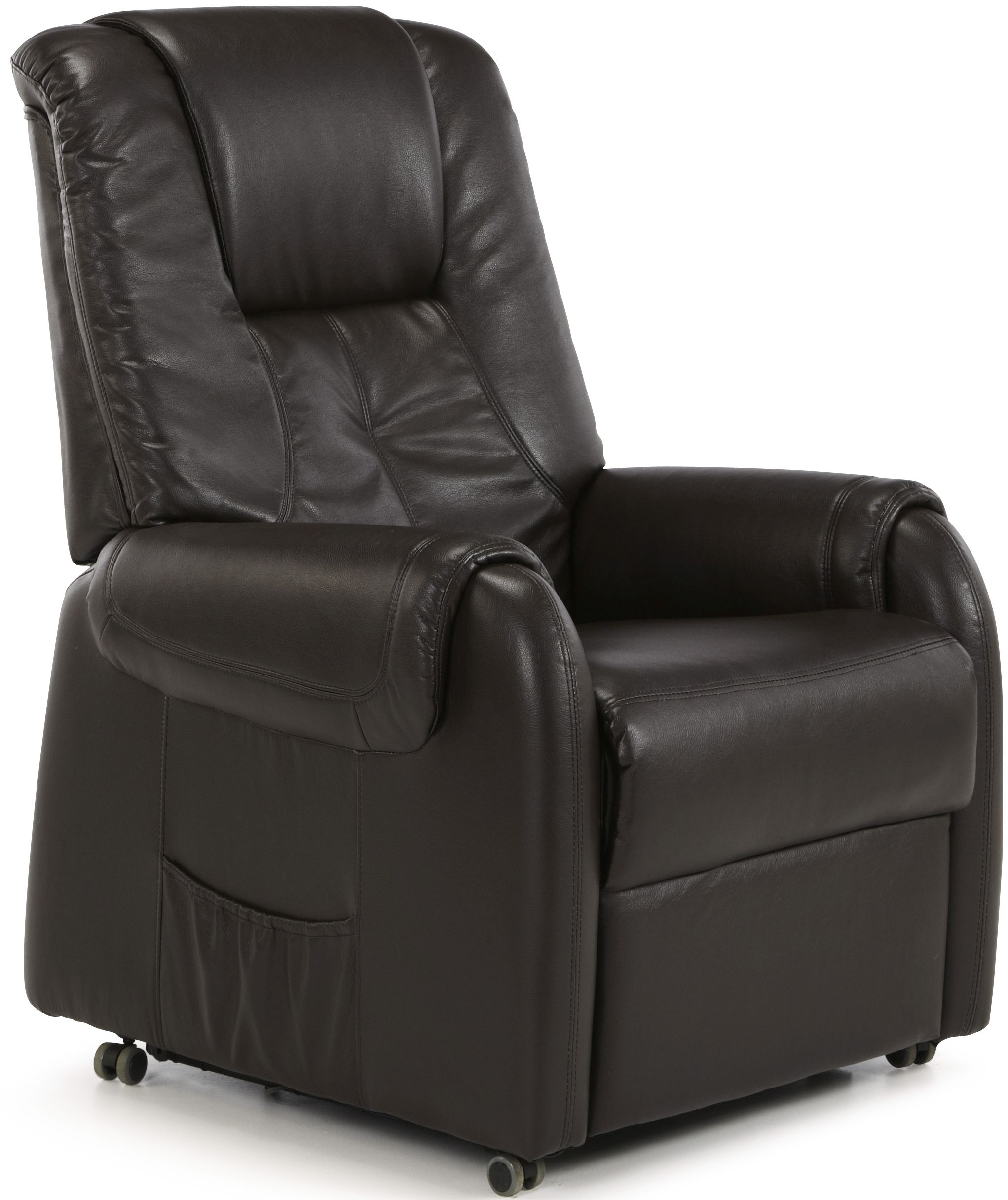 Serene Alta Brown Faux Leather Recliner Chair