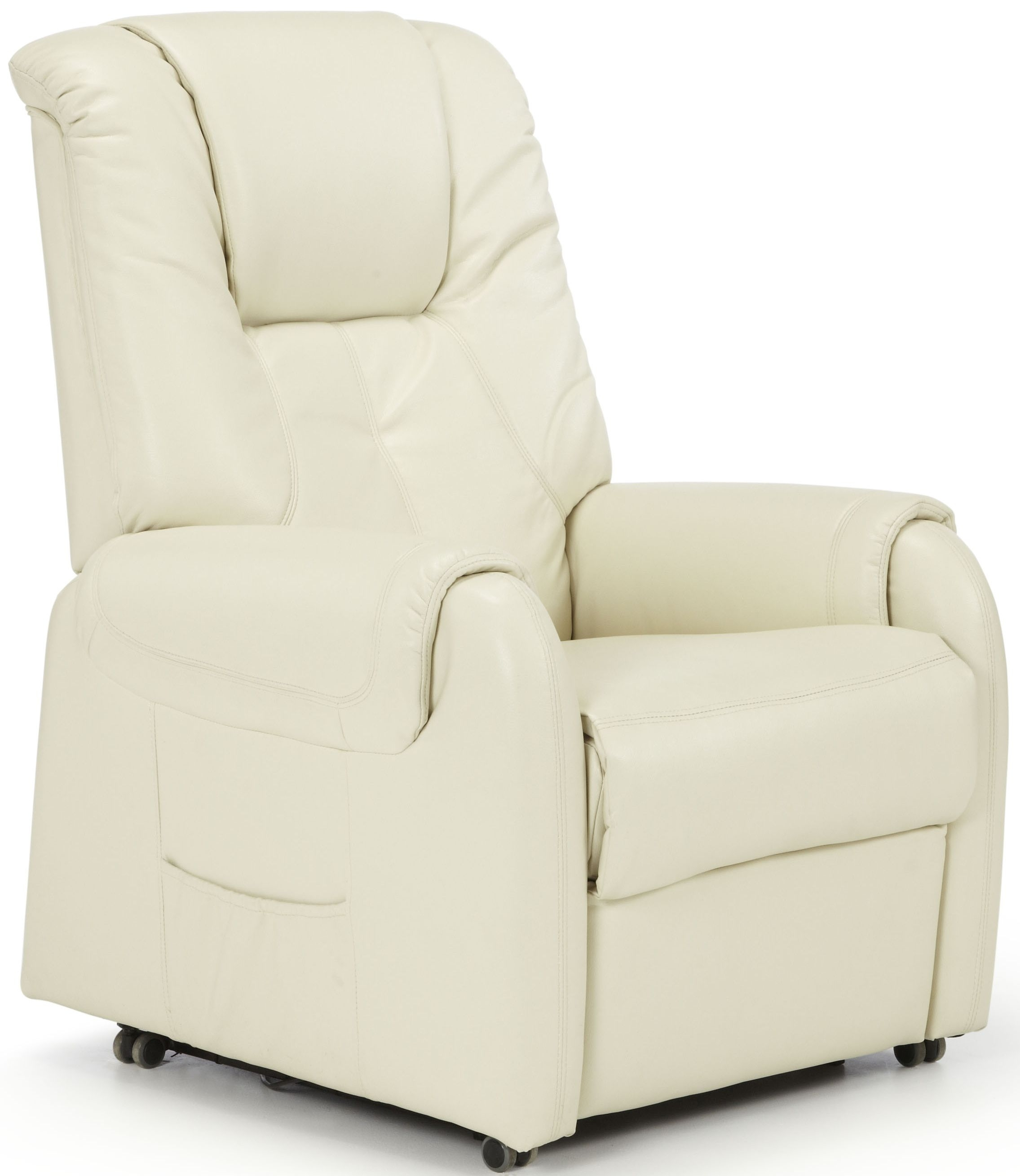 Serene Alta Cream Faux Leather Recliner Chair