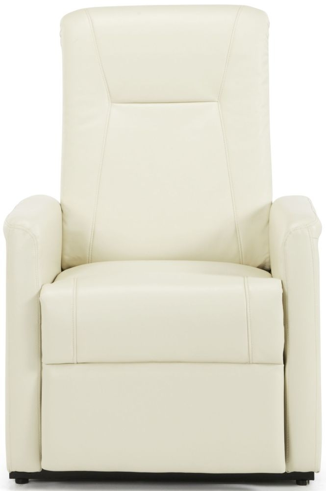 Serene Brevik Cream Faux Leather Recliner Chair