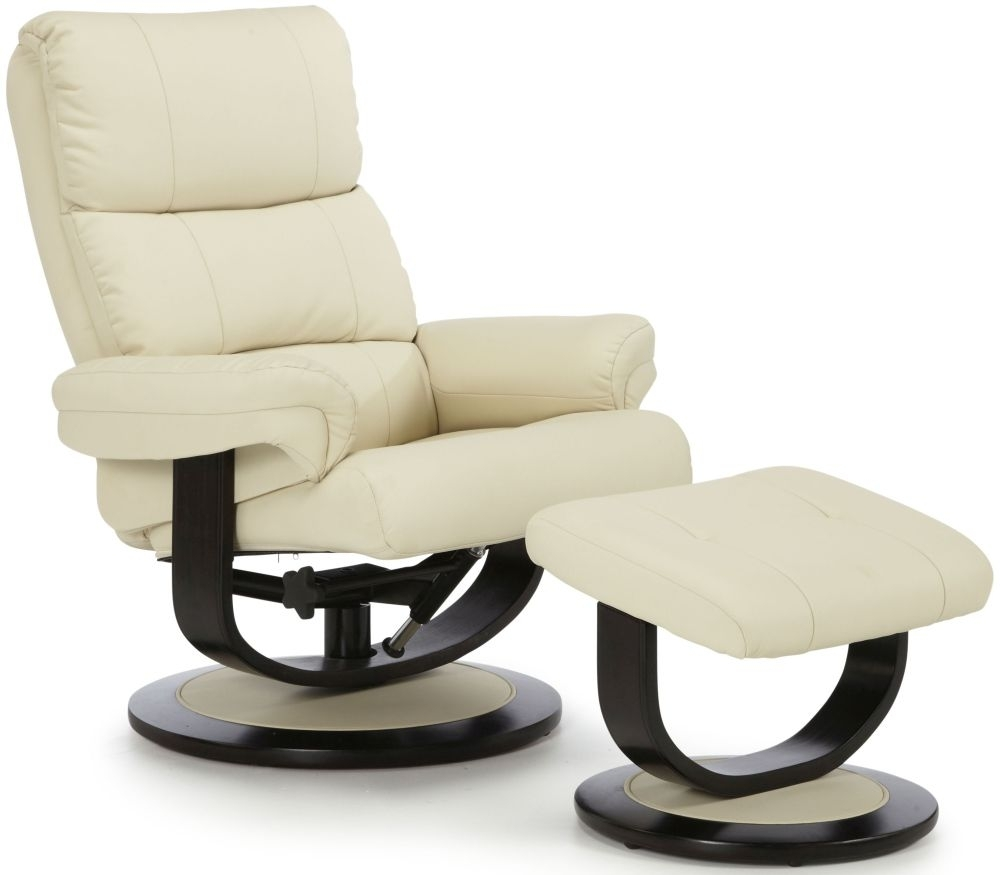 Serene Horten Cream Faux Leather Recliner Chair