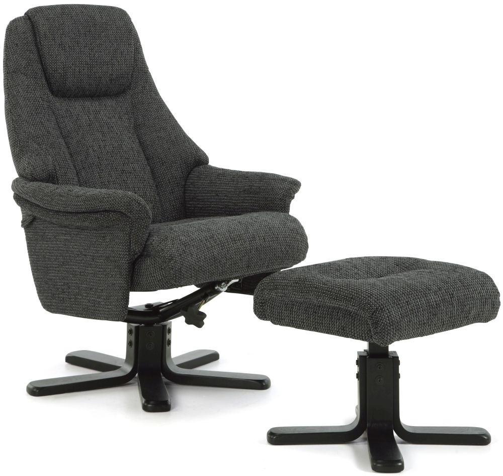 Serene Mysen Graphite Fabric Recliner Chair