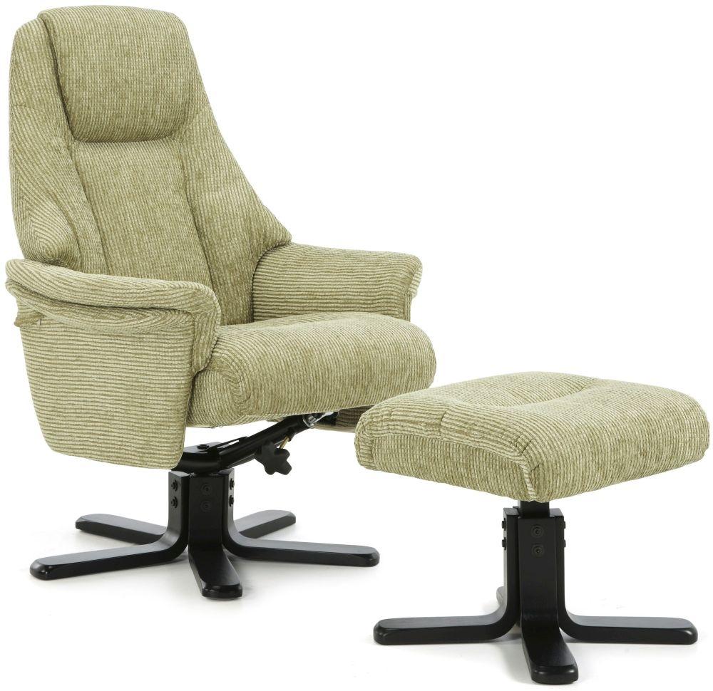 Serene Mysen Mint Fabric Recliner Chair