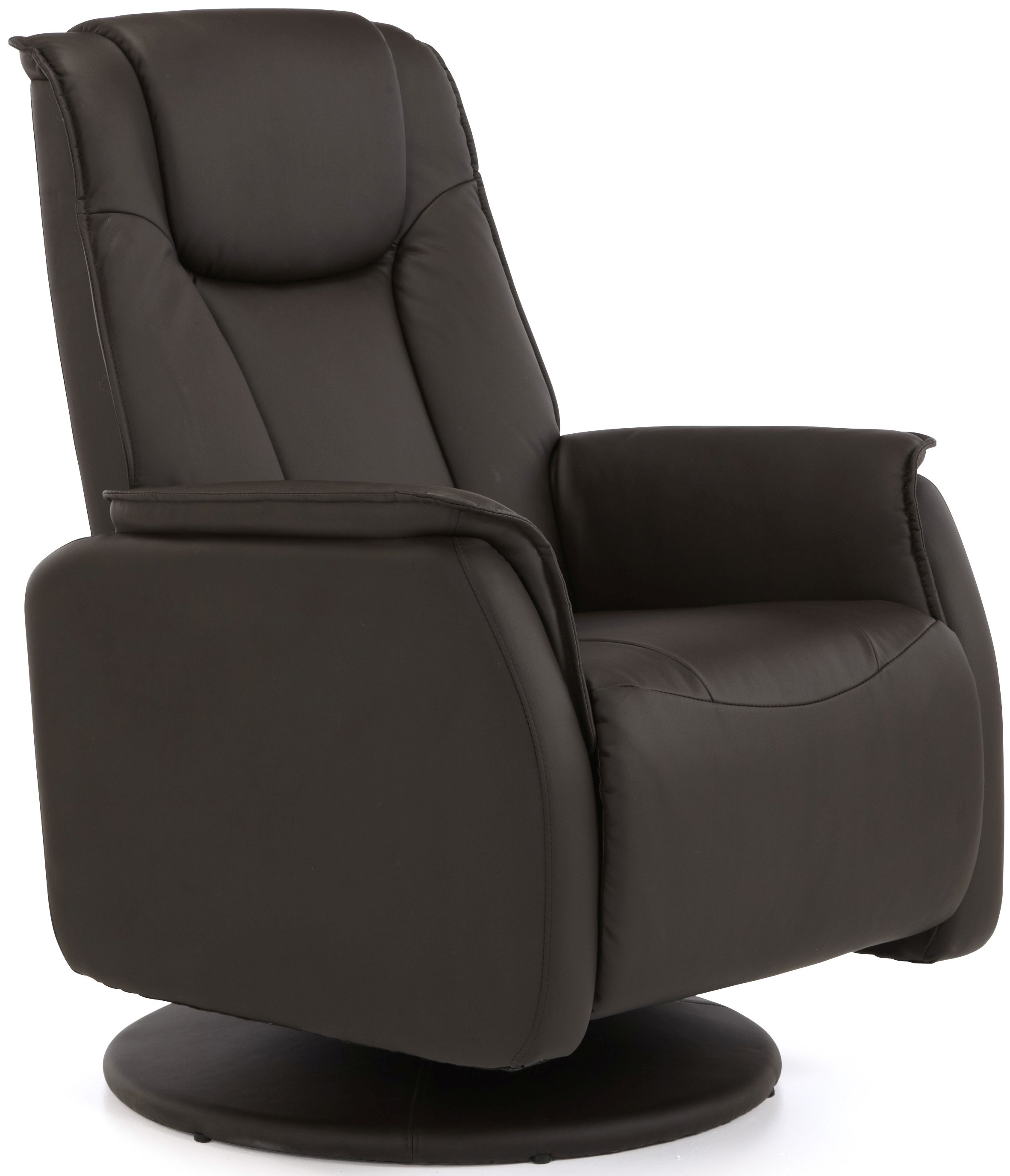 Serene Tonsberg Brown Faux Leather Recliner Chair