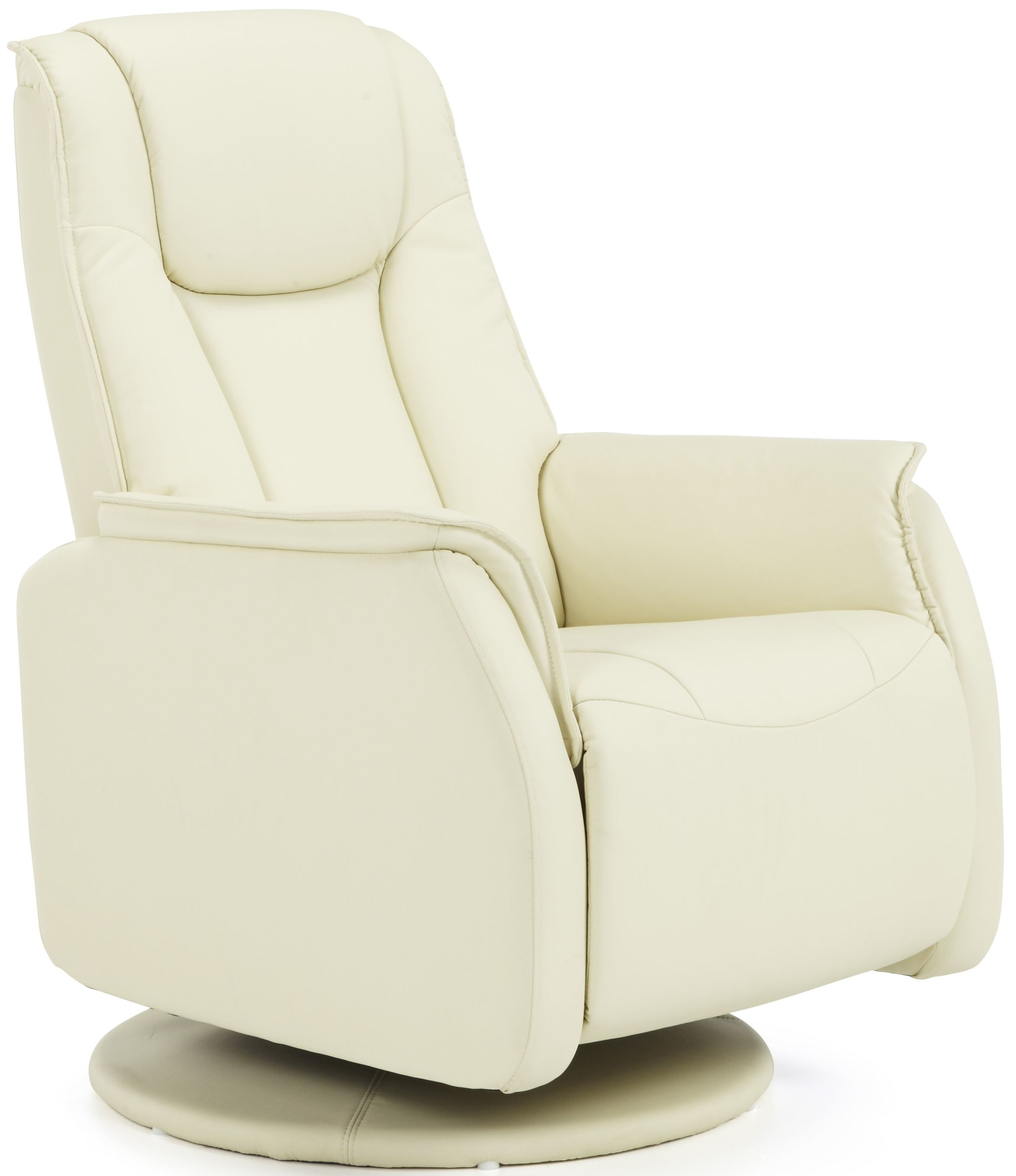 Serene Tonsberg Cream Faux Leather Recliner Chair