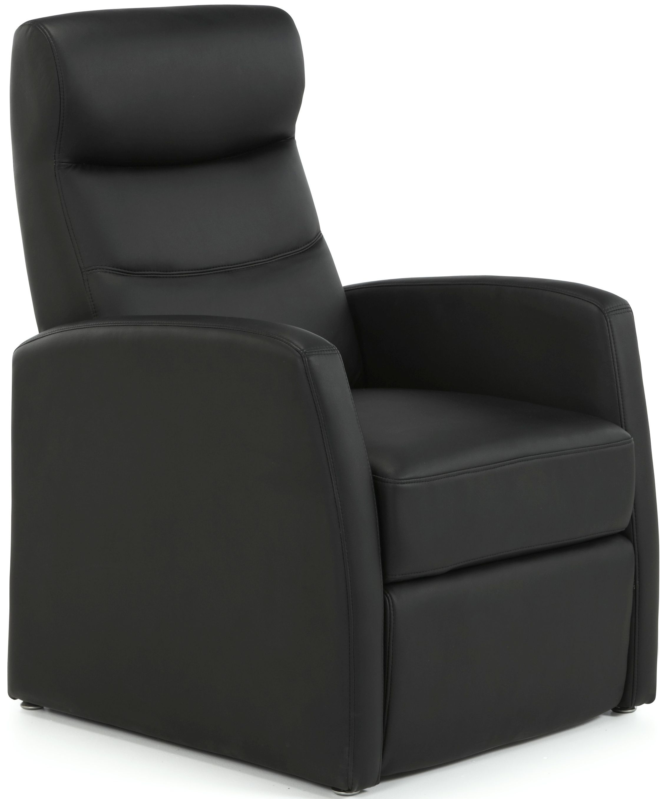Serene Tromso Black Faux Leather Recliner Chair
