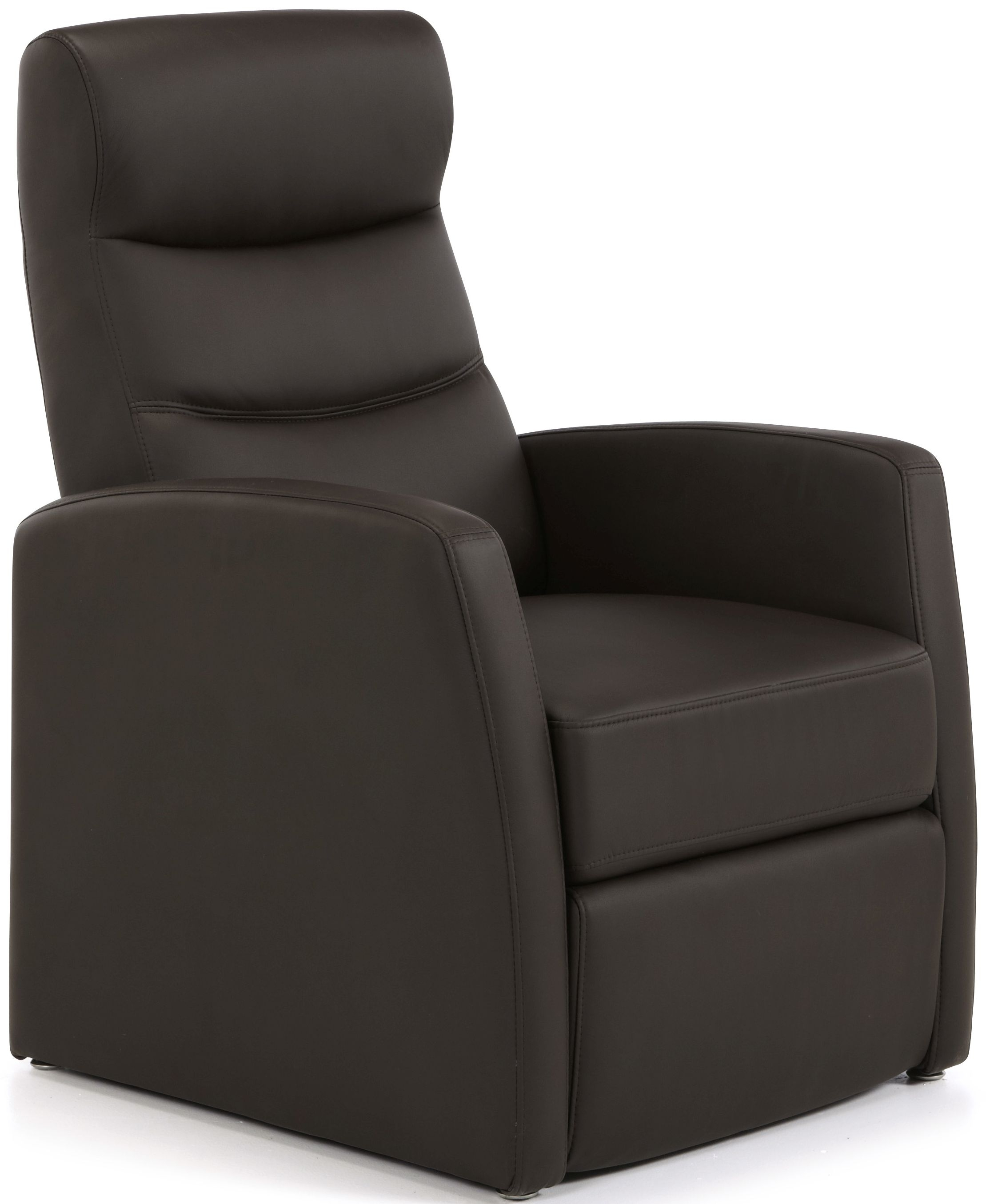 Serene Tromso Brown Faux Leather Recliner Chair