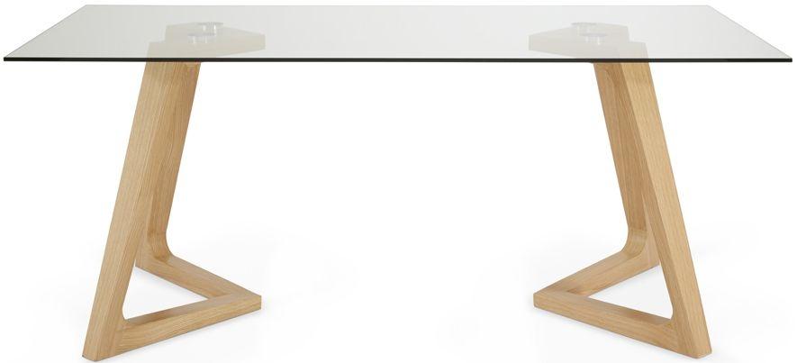 Serene Seville Dining Table - Glass and Oak