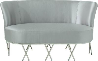 Serene Penelope Grey Velvet 2 Seater Fabric Sofa