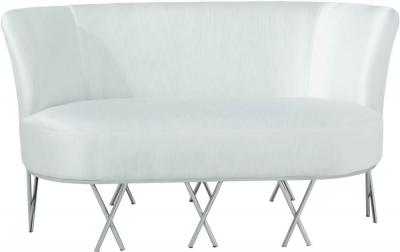 Serene Penelope Ivory White Velvet 2 Seater Fabric Sofa