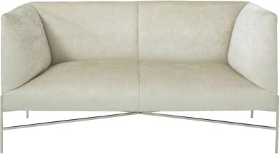 Serene Tanya Cream Velvet 2 Seater Fabric Sofa