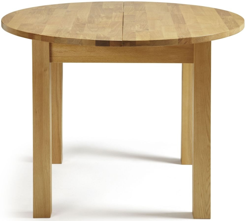 Serene Sutton Oak Round Extending Dining Table - 105cm-140cm