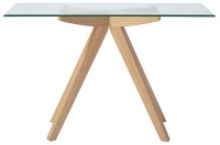 Serene Vigo Console Table - Glass and Oak