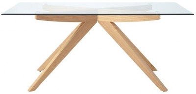 Serene Vigo Dining Table - Glass and Oak