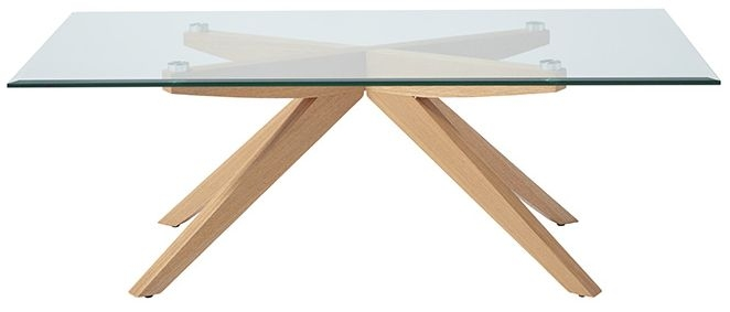 Serene Vigo Coffee Table - Glass and Oak