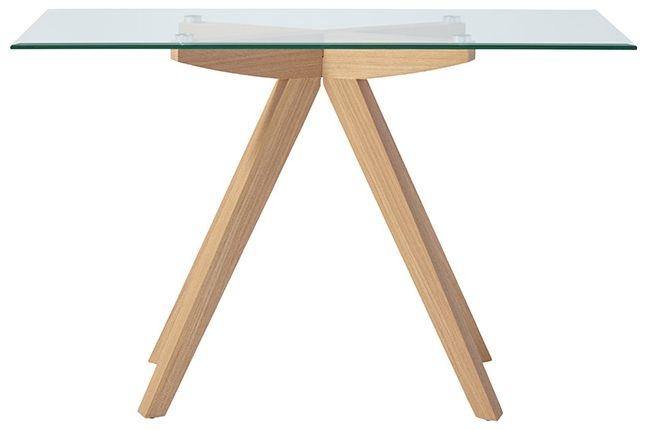 Serene Vigo Console Table - Glass and Oak