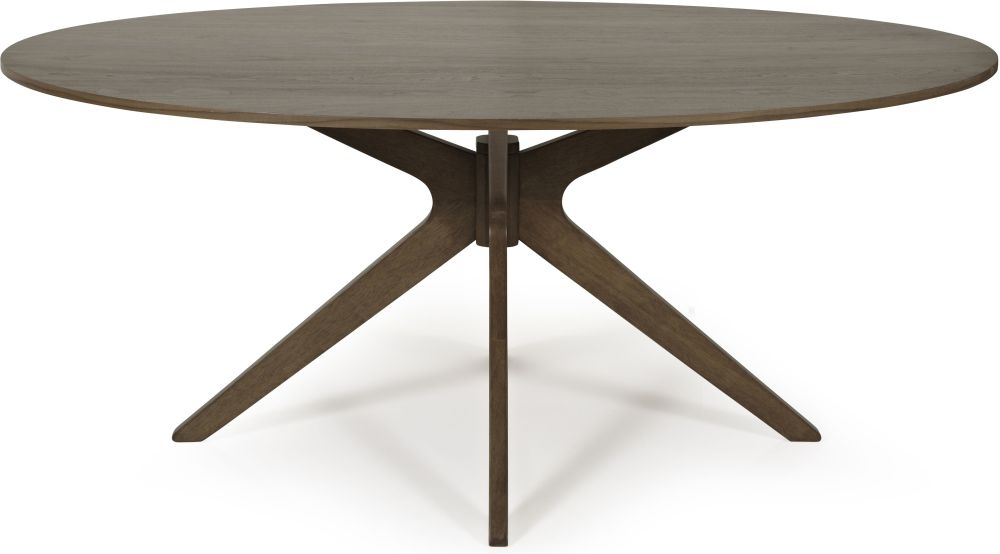 Serene Waltham Walnut Oval Dining Table