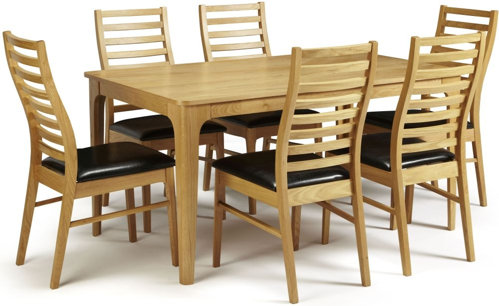 Serene Wandsworth Oak Dining Set - Fixed Top with 6 Wandsworth Chairs