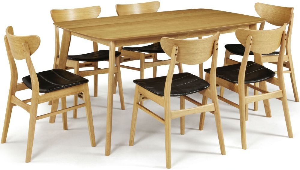 Serene Westminister Oak Dining Set - 150cm with 6 Camden Oak Chairs